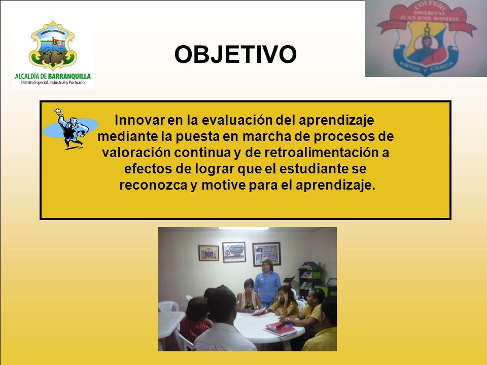 OBJETIVO Innovar en la evaluación del aprendizaje