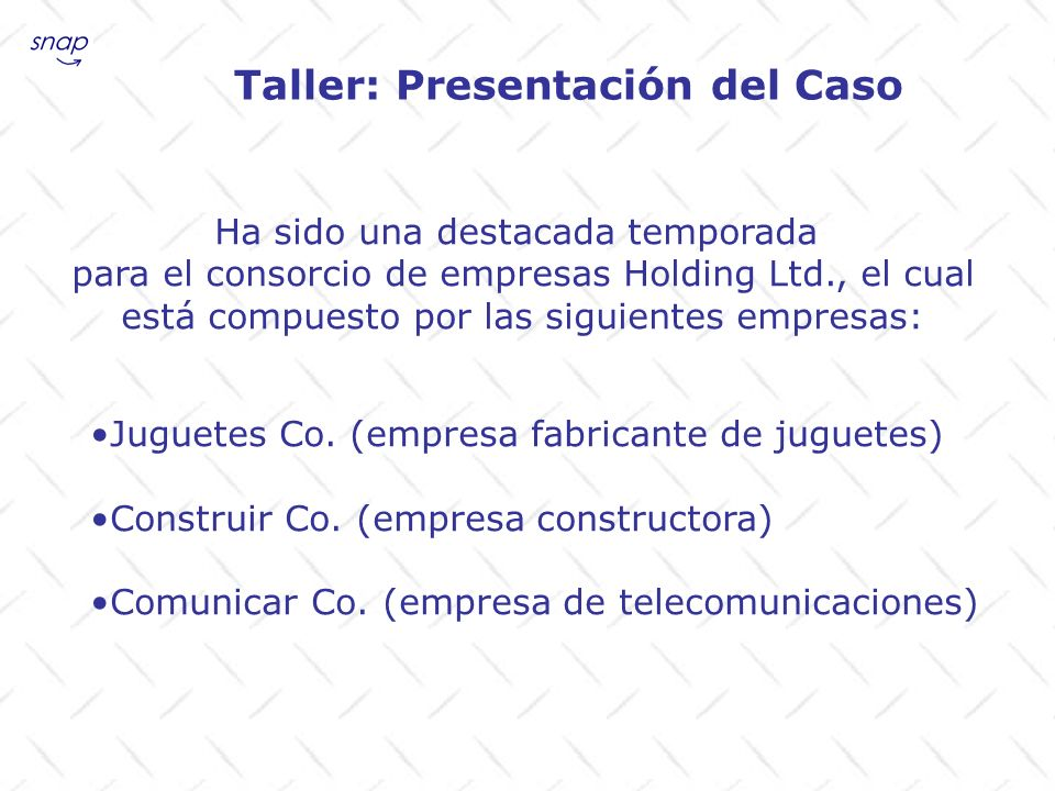 Taller: Presentación del Caso