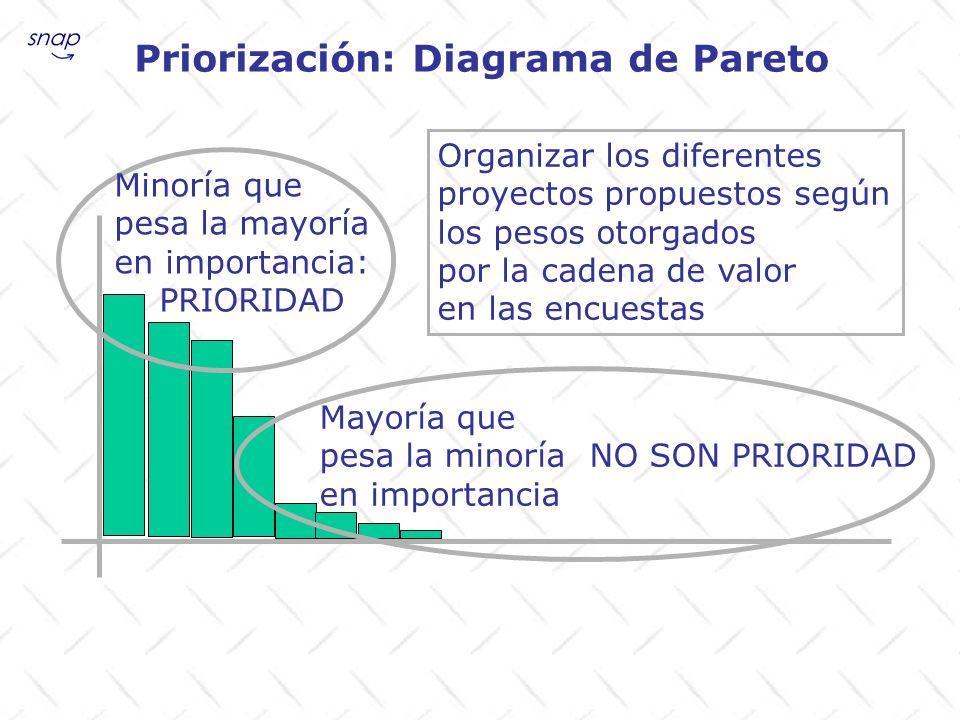 Priorización: Diagrama de Pareto