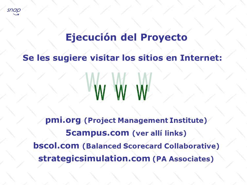 W W W Ejecución del Proyecto