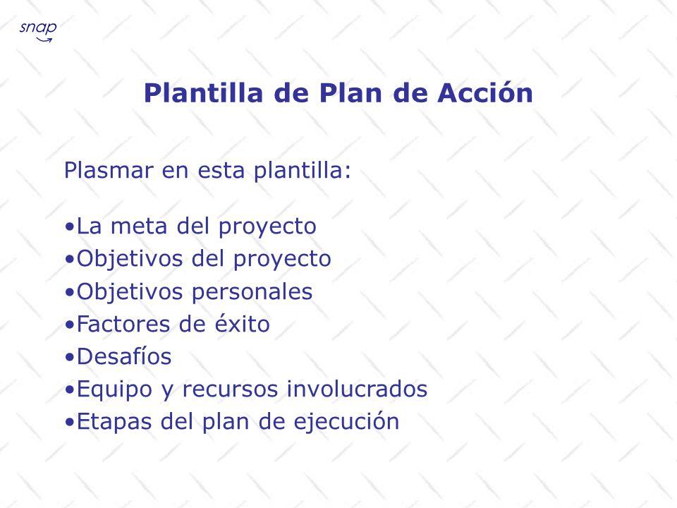 Plantilla de Plan de Acción