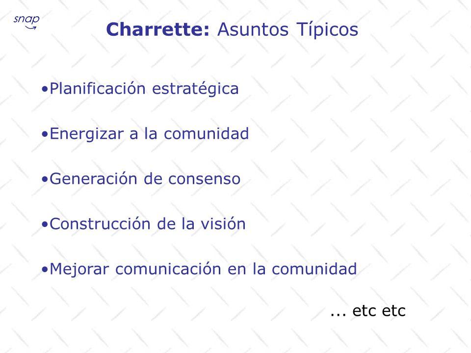 Charrette: Asuntos Típicos