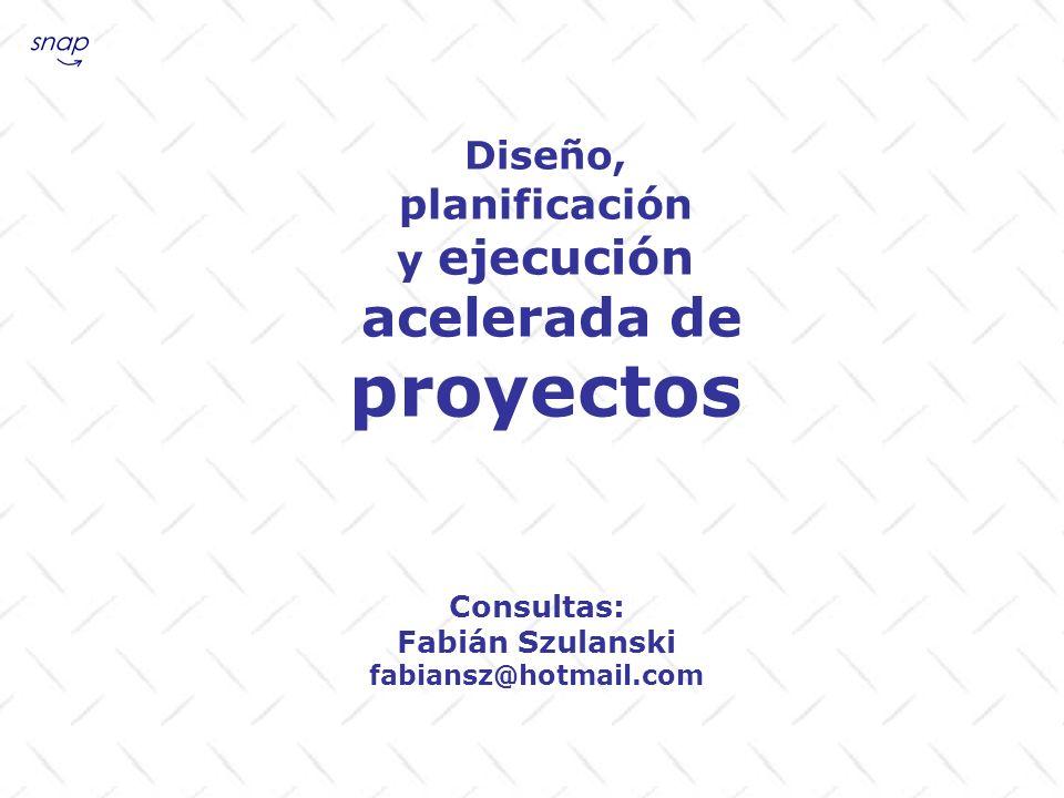 proyectos planificación y ejecución Diseño, acelerada de Consultas: