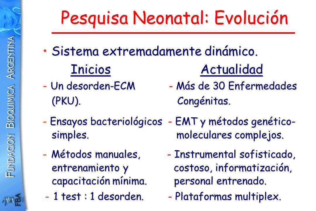 Pesquisa Neonatal: Evolución