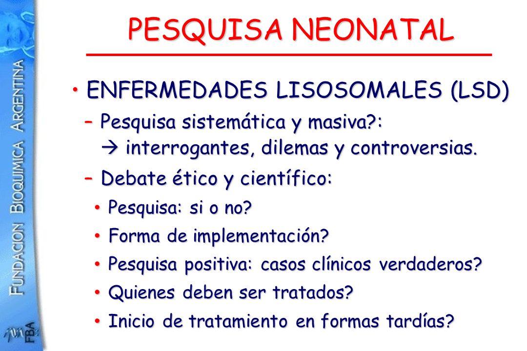 PESQUISA NEONATAL ENFERMEDADES LISOSOMALES (LSD)