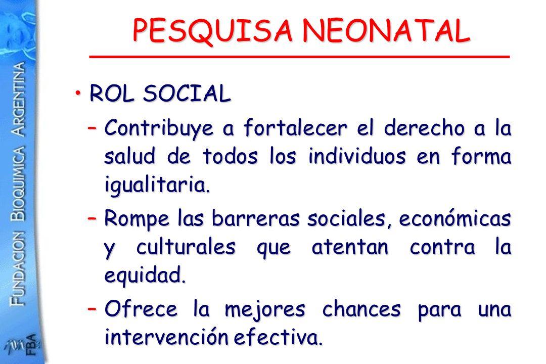 PESQUISA NEONATAL ROL SOCIAL