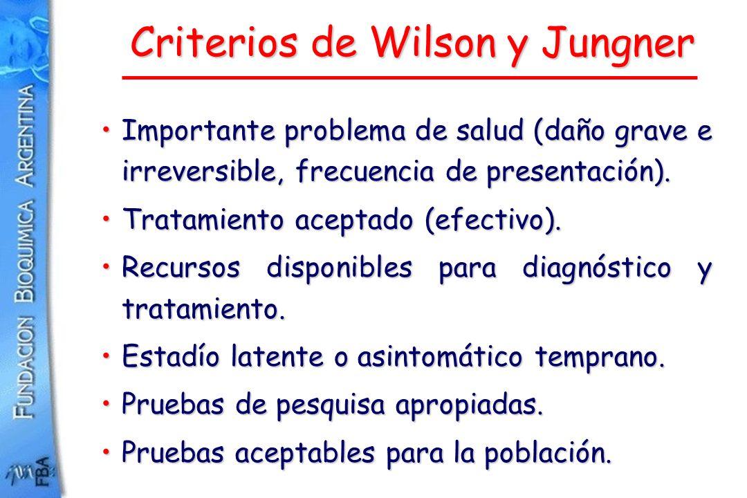 Criterios de Wilson y Jungner