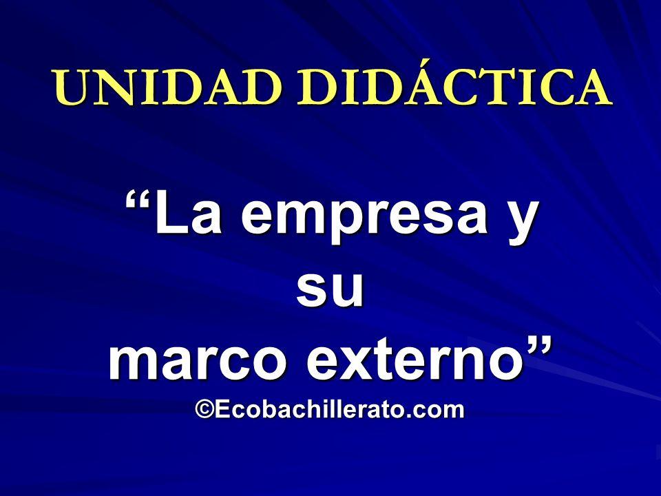 La empresa y su marco externo ©Ecobachillerato.com
