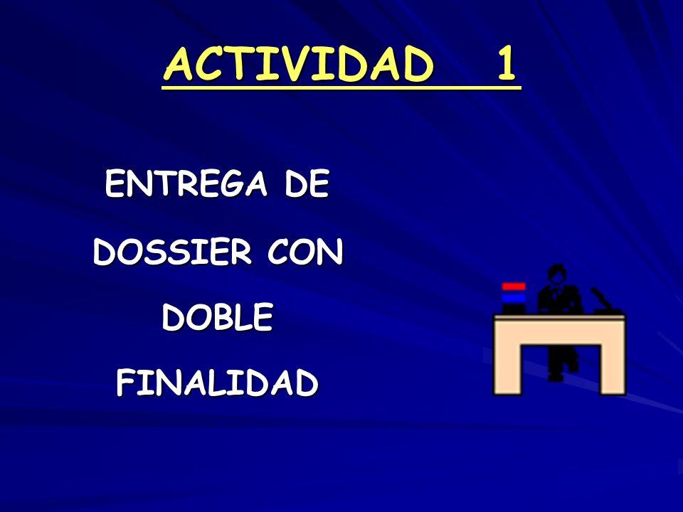 ACTIVIDAD 1 ENTREGA DE DOSSIER CON DOBLE FINALIDAD
