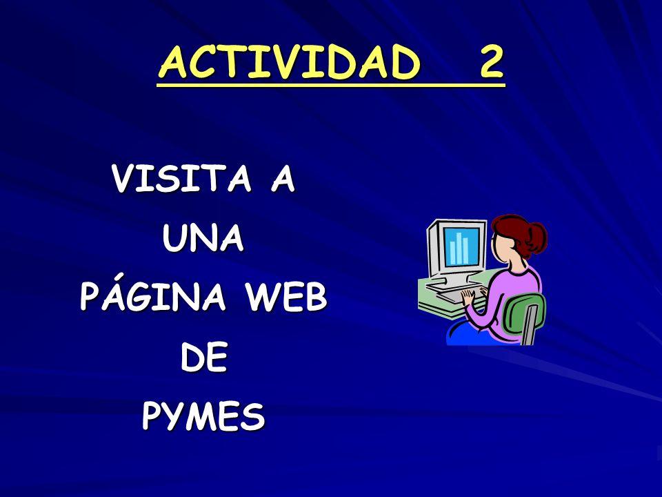 ACTIVIDAD 2 VISITA A UNA PÁGINA WEB DE PYMES