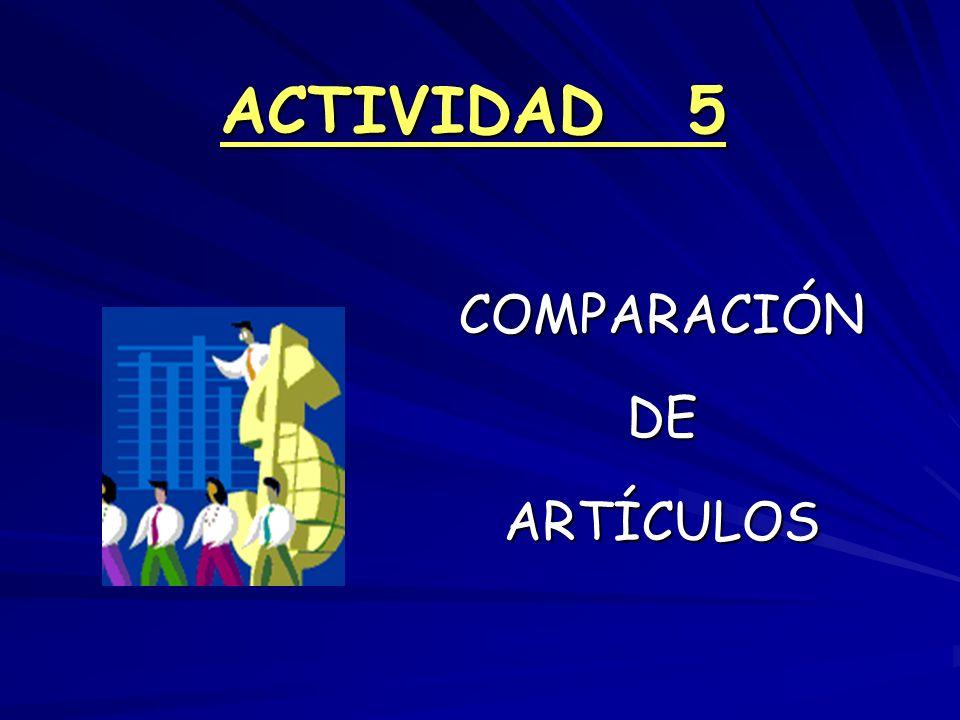 ACTIVIDAD 5 COMPARACIÓN DE ARTÍCULOS