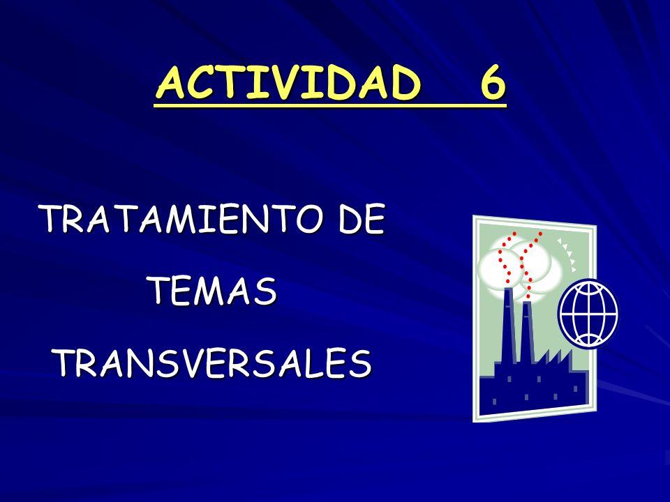 ACTIVIDAD 6 TRATAMIENTO DE TEMAS TRANSVERSALES