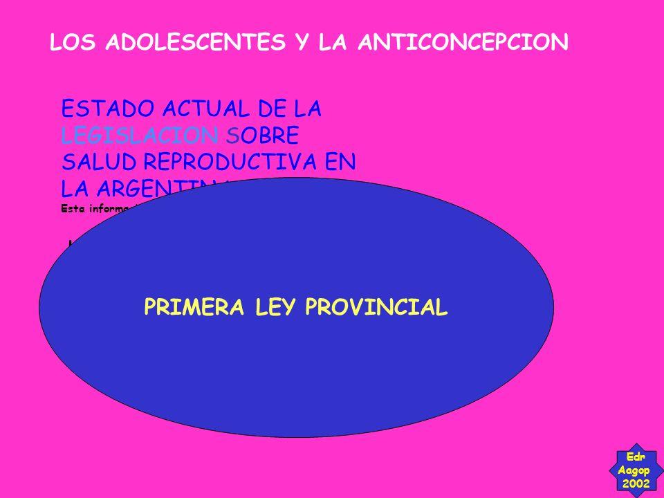 PRIMERA LEY PROVINCIAL