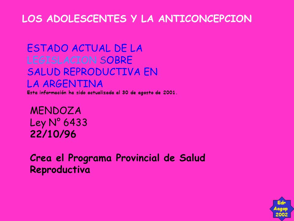 LOS ADOLESCENTES Y LA ANTICONCEPCION