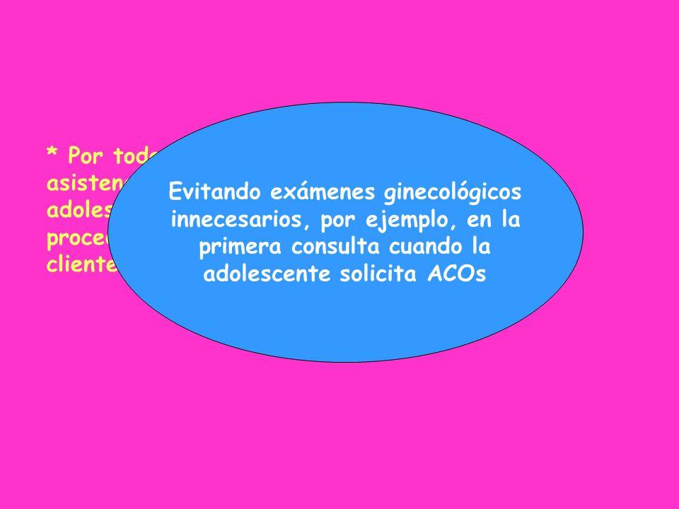 Evitando exámenes ginecológicos innecesarios, por ejemplo, en la