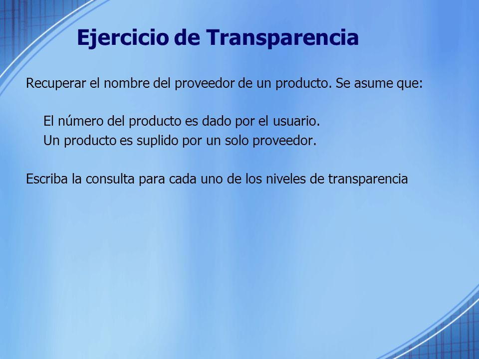 Ejercicio de Transparencia