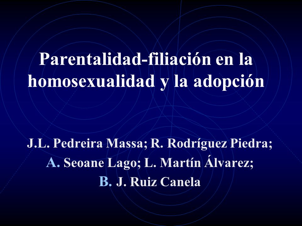 Parentalidad-filiación en la homosexualidad y la adopción