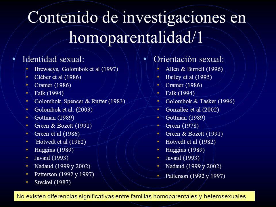 Contenido de investigaciones en homoparentalidad/1