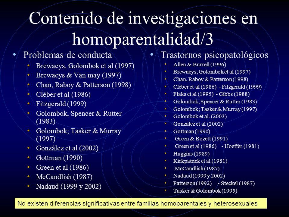 Contenido de investigaciones en homoparentalidad/3