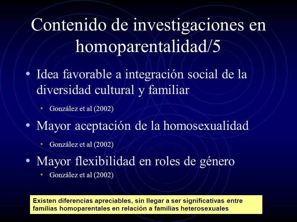 Contenido de investigaciones en homoparentalidad/5