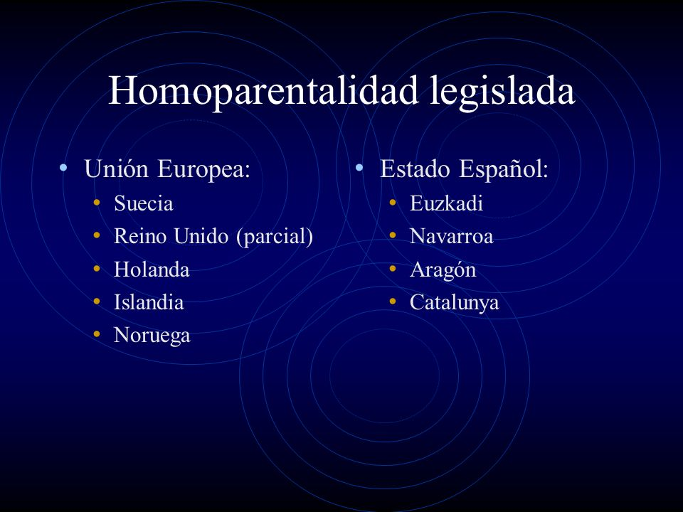 Homoparentalidad legislada