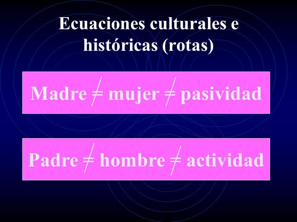 Ecuaciones culturales e históricas (rotas)