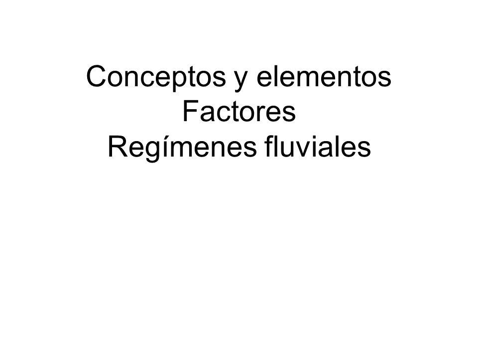 Conceptos y elementos Factores Regímenes fluviales