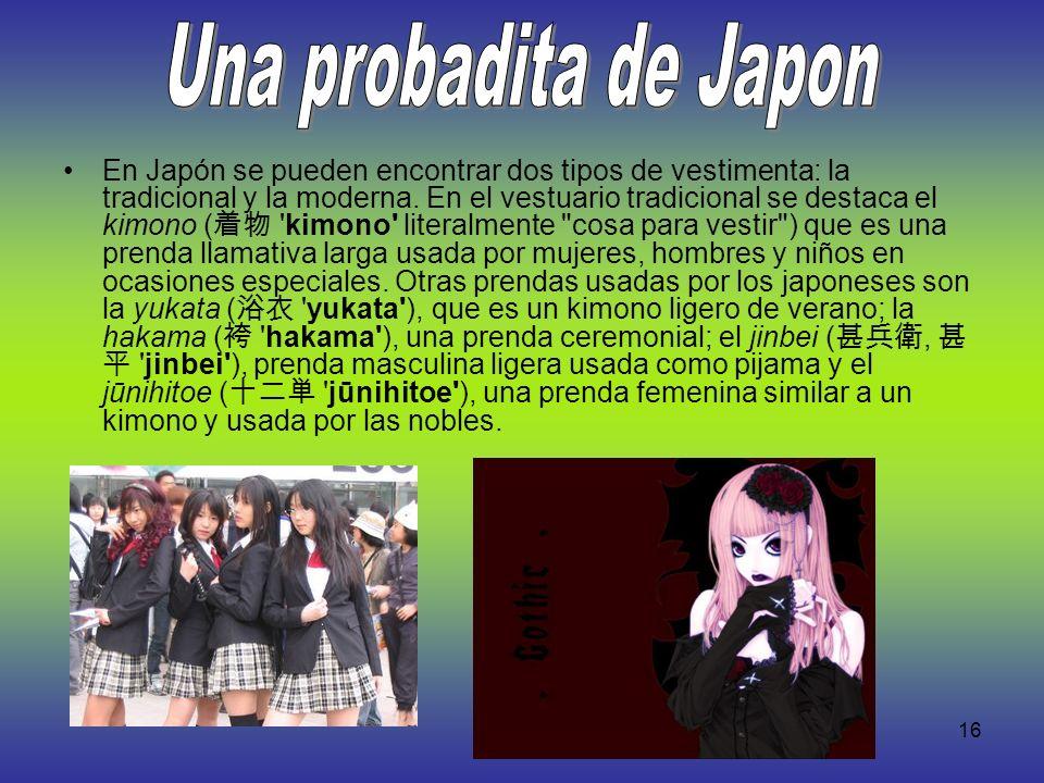 Una probadita de Japon