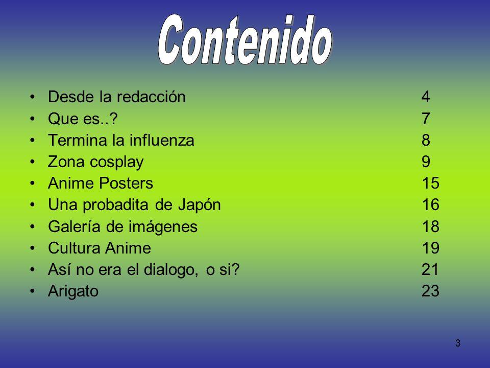 Contenido Desde la redacción 4 Que es.. 7 Termina la influenza 8