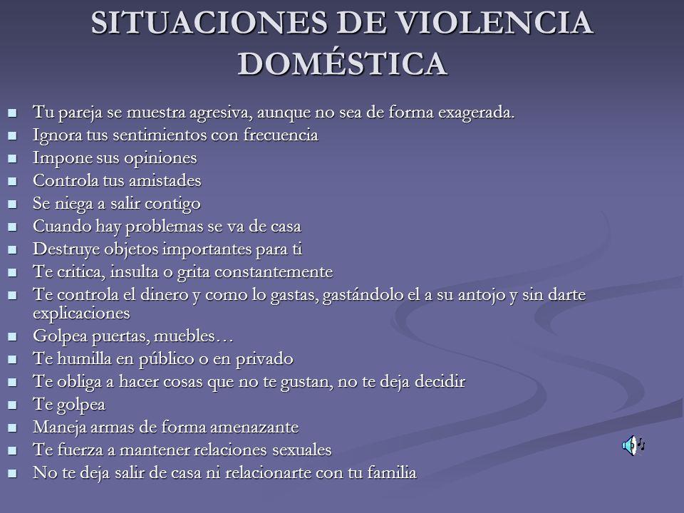 SITUACIONES DE VIOLENCIA DOMÉSTICA