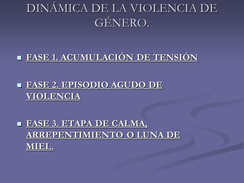 DINÁMICA DE LA VIOLENCIA DE GÉNERO.