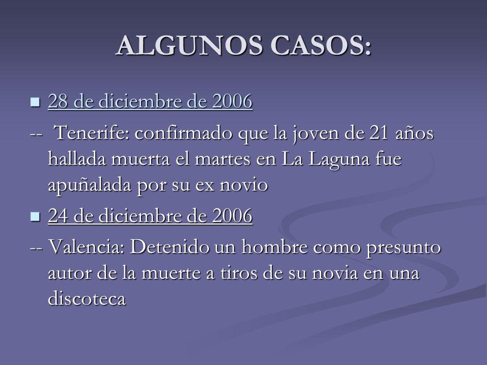 ALGUNOS CASOS: 28 de diciembre de 2006
