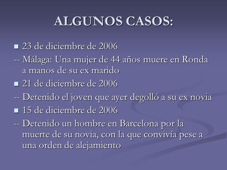 ALGUNOS CASOS: 23 de diciembre de 2006