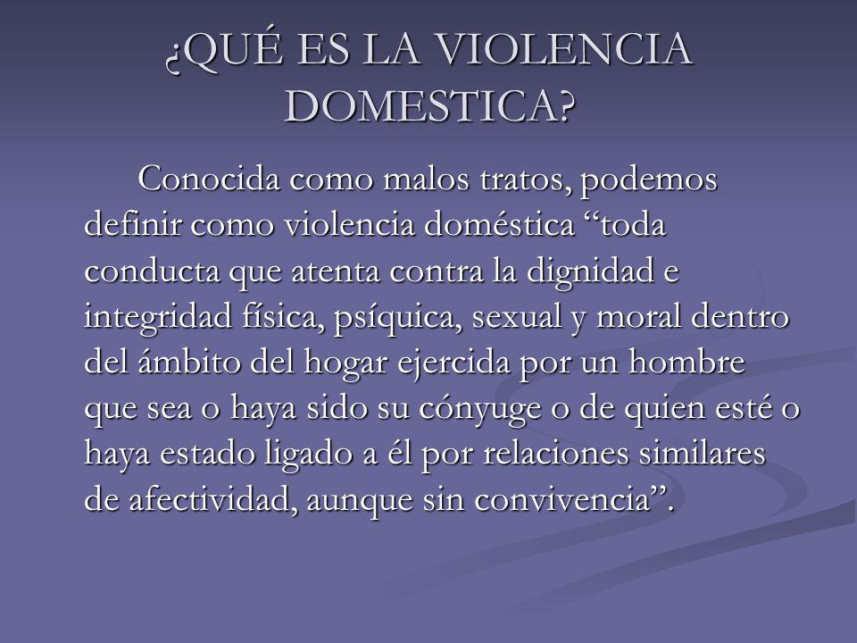 ¿QUÉ ES LA VIOLENCIA DOMESTICA