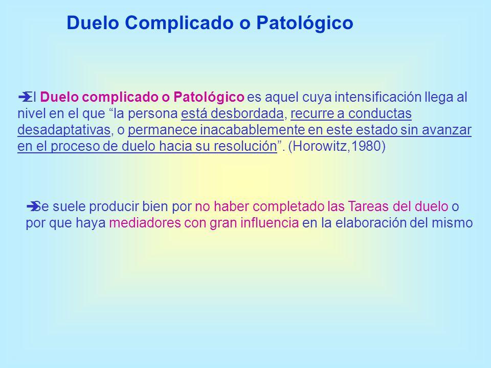 Duelo Complicado o Patológico