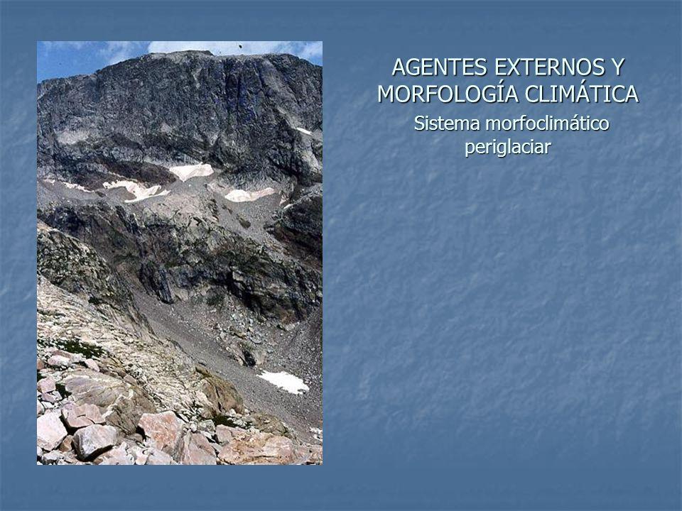 AGENTES EXTERNOS Y MORFOLOGÍA CLIMÁTICA Sistema morfoclimático periglaciar
