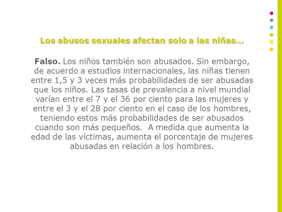 Los abusos sexuales afectan solo a las niñas…
