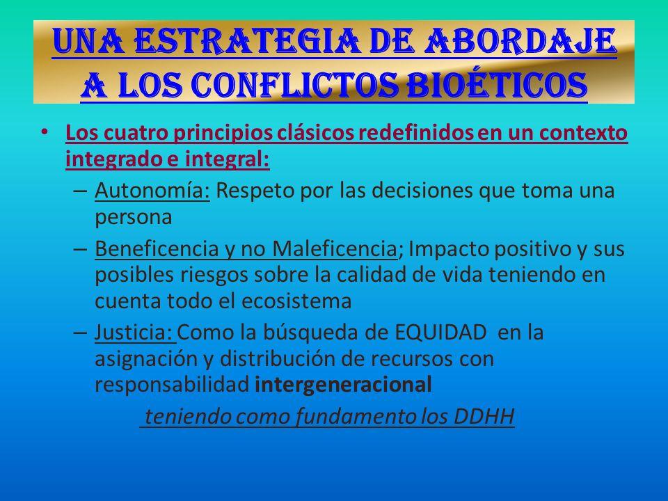 UNA ESTRATEGIA DE ABORDAJE A LOS CONFLICTOS BIOÉTICOS