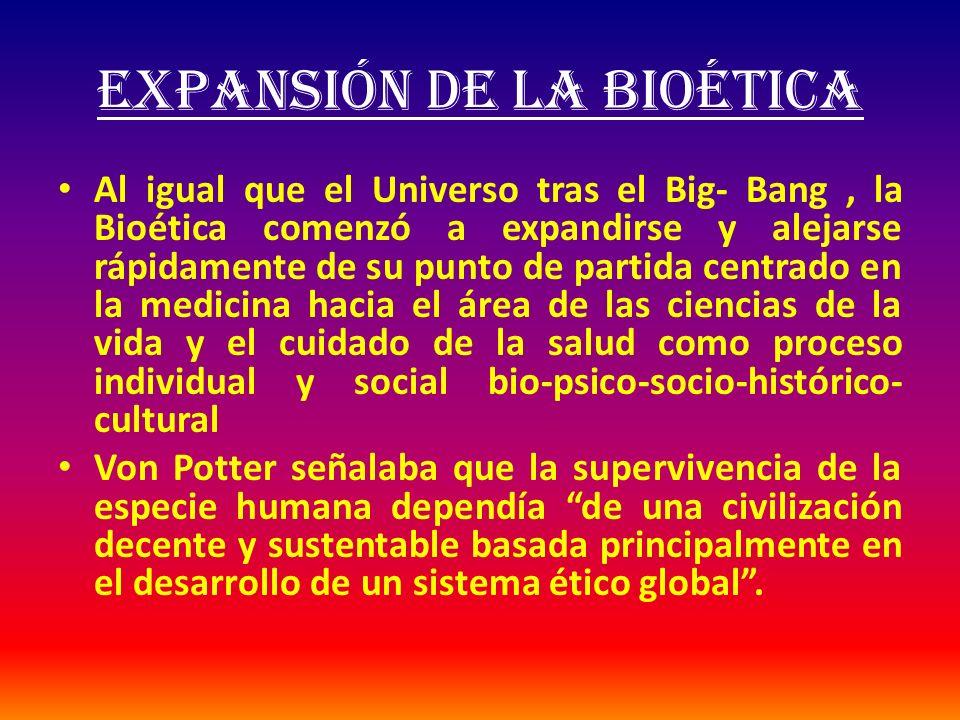 EXPANSIÓN DE LA BIOÉTICA