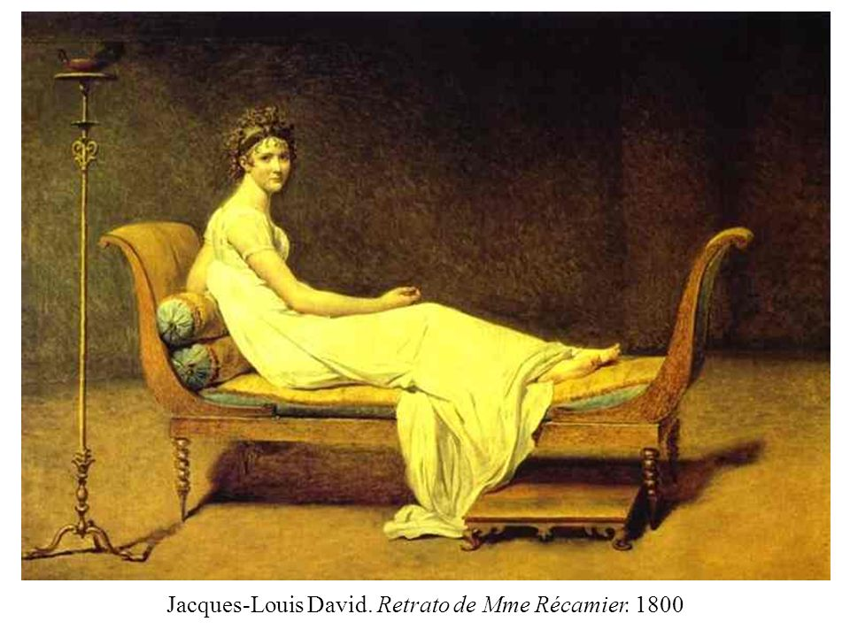 Jacques-Louis David. Retrato de Mme Récamier. 1800