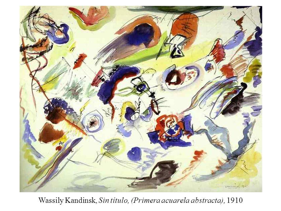 Wassily Kandinsk, Sin título, (Primera acuarela abstracta), 1910