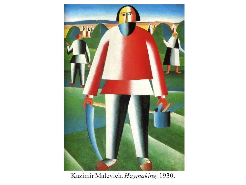 Kazimir Malevich. Haymaking. 1930.