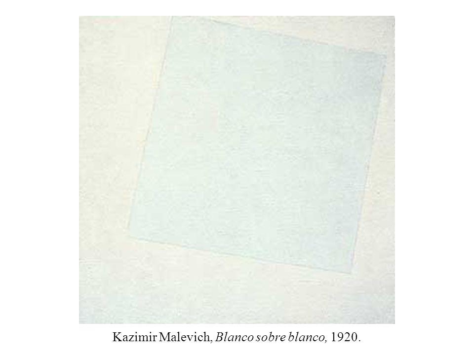 Kazimir Malevich, Blanco sobre blanco, 1920.