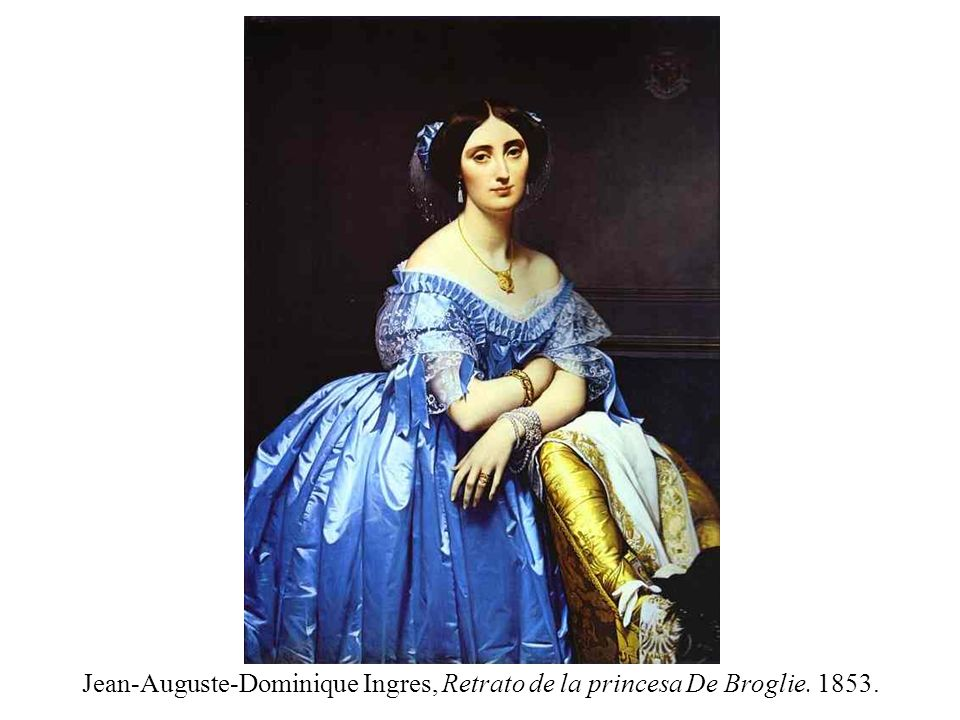 Jean-Auguste-Dominique Ingres, Retrato de la princesa De Broglie. 1853.