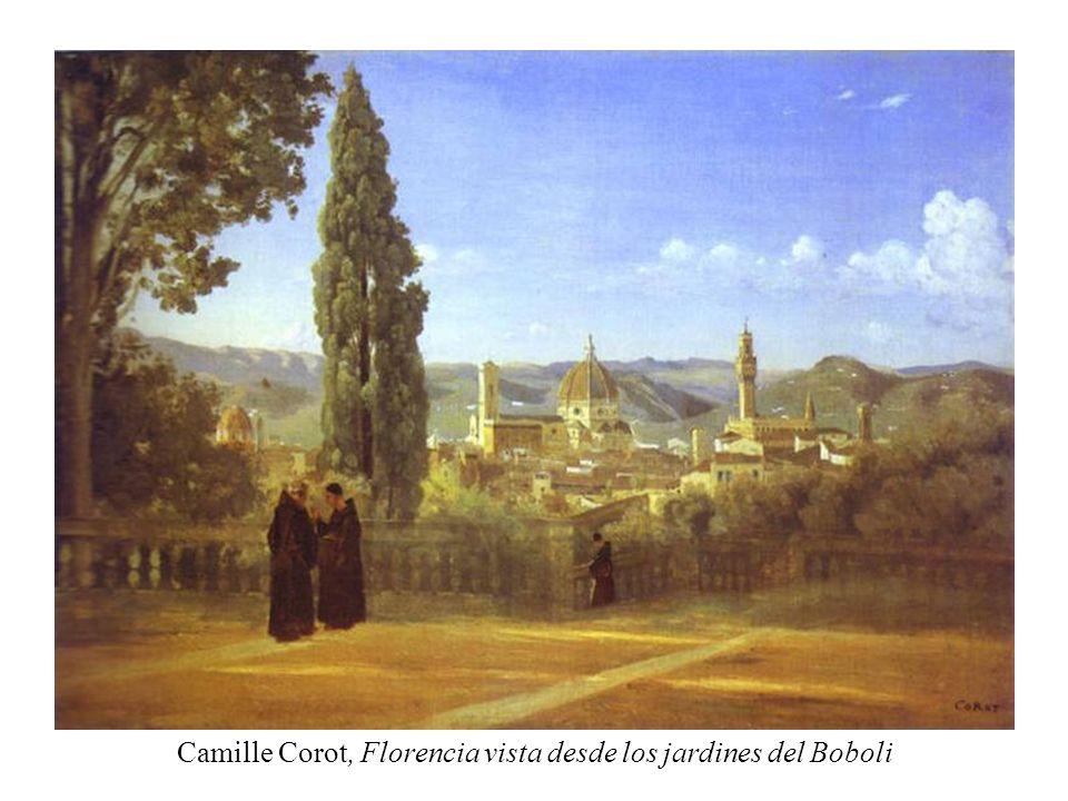 Camille Corot, Florencia vista desde los jardines del Boboli
