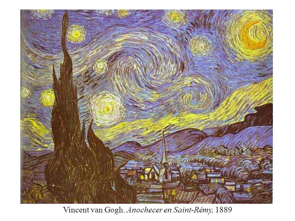 Vincent van Gogh. Anochecer en Saint-Rémy, 1889