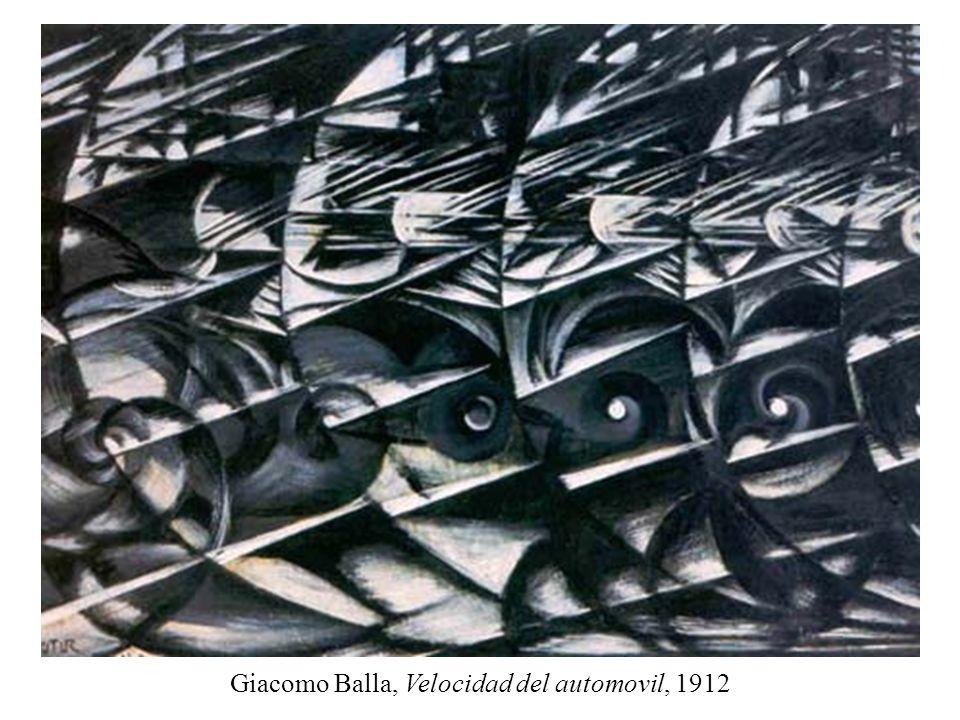 Giacomo Balla, Velocidad del automovil, 1912