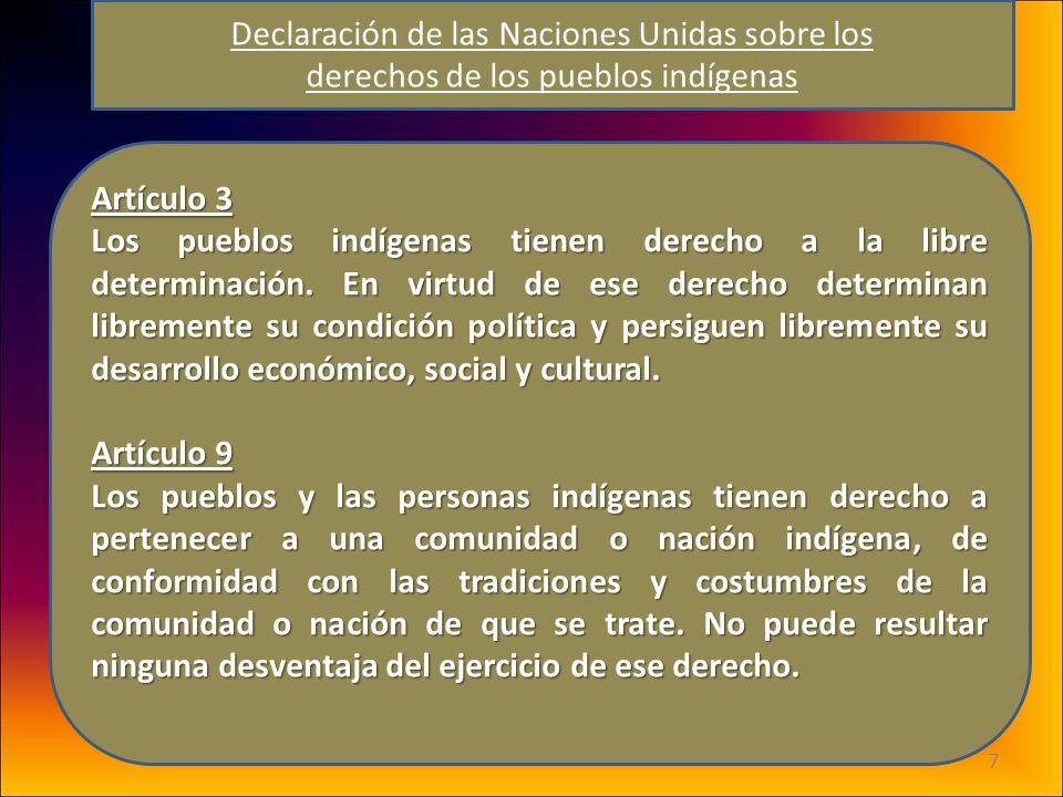Declaración de las Naciones Unidas sobre los derechos de los pueblos indígenas