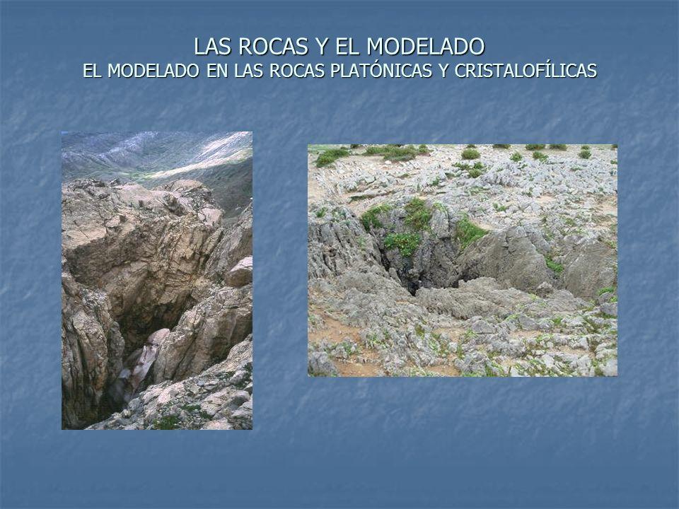 LAS ROCAS Y EL MODELADO EL MODELADO EN LAS ROCAS PLATÓNICAS Y CRISTALOFÍLICAS