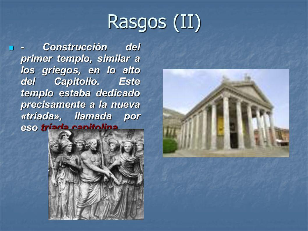 Rasgos (II)